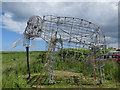 TG0544 : Mammoth model, Cley Marshes car park by Hugh Venables