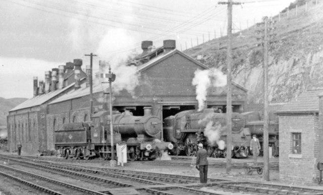 Machynlleth Locomotive Depot, 1962