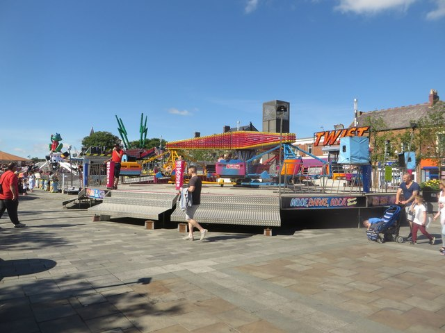 Funfair in Blyth town centre