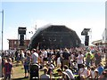 NZ3181 : The Main Stage, Blyth Tall Ships event by Graham Robson