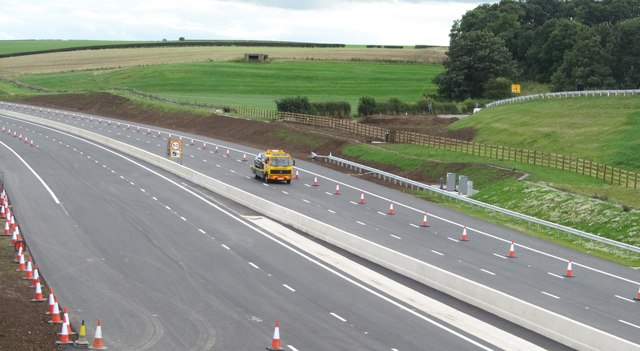 New motorway near completion