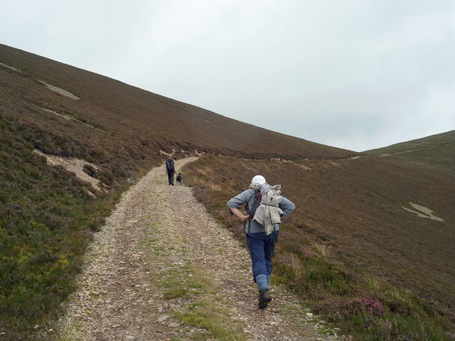 On the Land Rover track to Moine Mhor