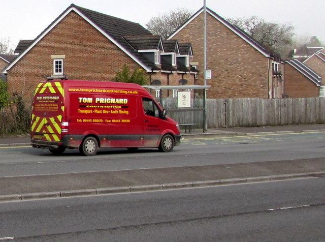 Tom Prichard Contracting van, Malpas Road, Newport