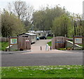 ST3048 : Entrance to Burnham-on-Sea Holiday Village by Jaggery