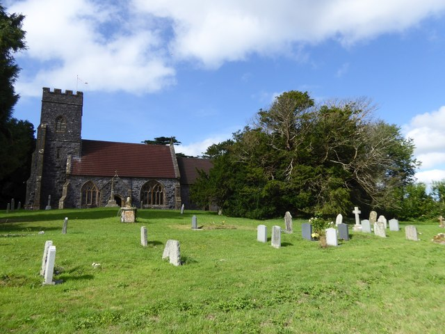 Ashbrittle church and the yew tree