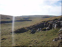 SD8965 : Malham Beck dry valley looking towards Watlowes by Johnny Coop