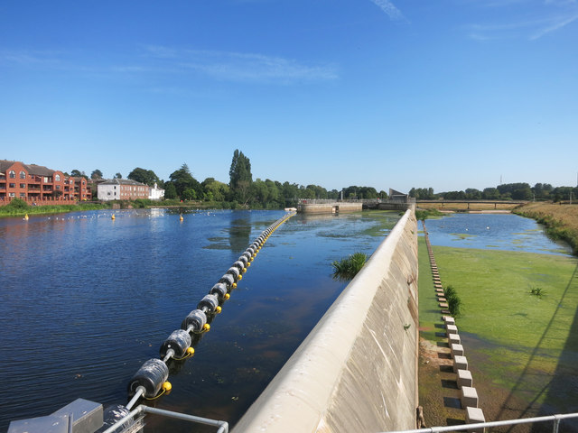 Exe Flood Relief Channel, Upstream End