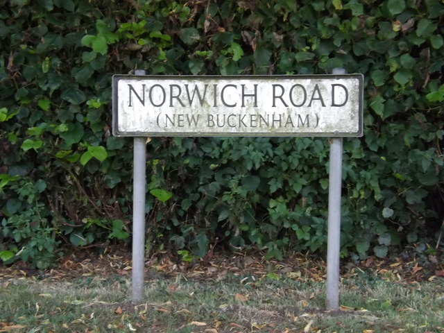 Norwich Road sign