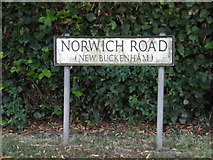 TM0890 : Norwich Road sign by Adrian Cable