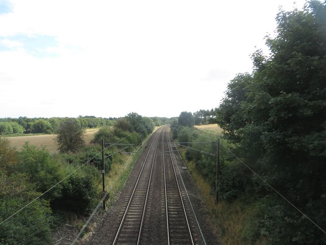 The East Coast Mainline at Littlehoughton