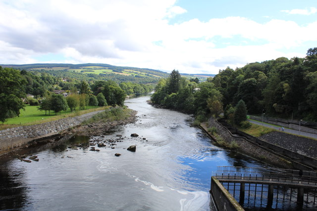 River Tummel from the walkway at the dam