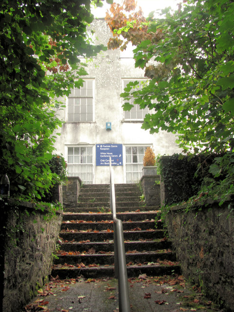 The steps from the Swimming Pool to the Foxhole School Building