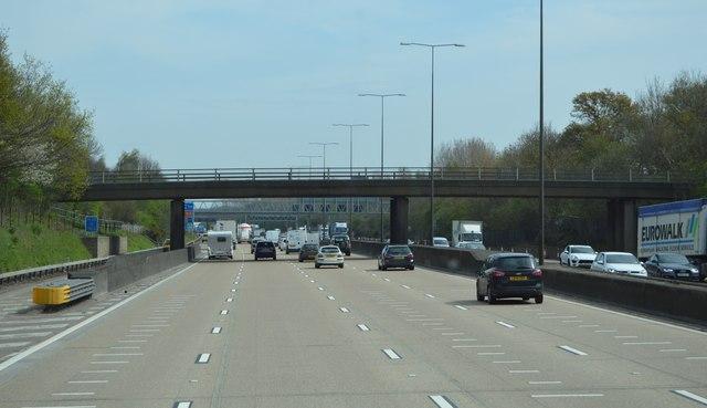 Plough Lane Bridge, M25