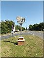 TM1292 : Bunwell Village sign by Geographer