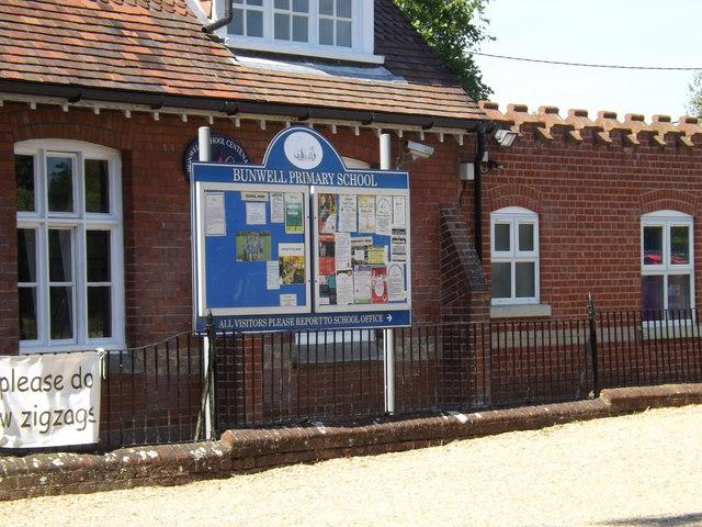 Bunwell Primary School Notice Board