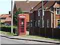 TM1292 : Telephone Box on the B1113 The Turnpike by Adrian Cable