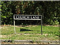 TM1292 : Church Lane sign by Adrian Cable