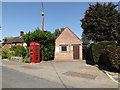 TM1193 : Bunwell Telephone Exchange & Telephone Box by Adrian Cable