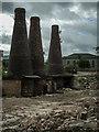 SJ8649 : Three Bottle Kilns at Acme Marls Ltd, Burslem by Brian Deegan