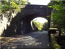 SE0726 : Old railway bridge, Brackenbed Lane, Halifax by Malc McDonald