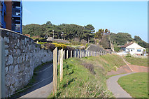 SX9777 : Alternative route of the South West Coast Path to the rear of Rockstone flats, Dawlish by Robin Stott