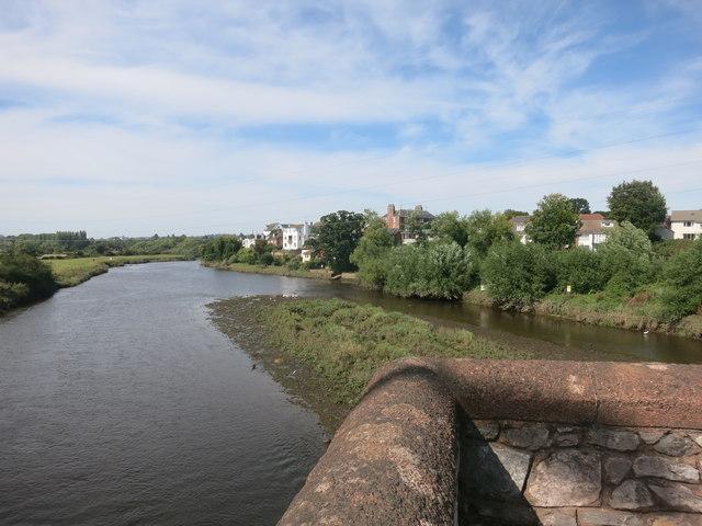 River Exe at Countess Wear Bridge