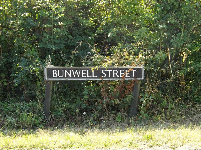 Bunwell Street sign