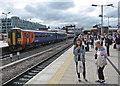 SK5739 : Nottingham Station: waiting on Platform 3c by John Sutton