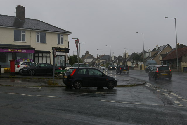 Junction of Marine Drive and Station Road, Hest Bank