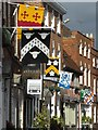 SO8932 : Medieval banners on Church Street by Philip Halling