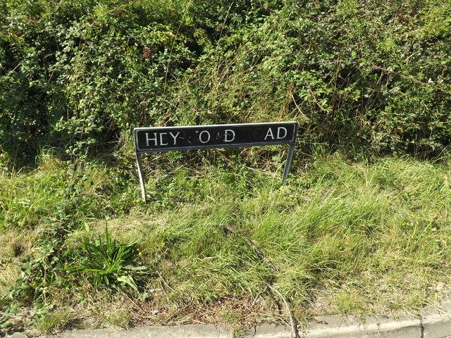 Heywood Road sign