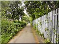 SJ9495 : Footpath north of the M67 by Gerald England