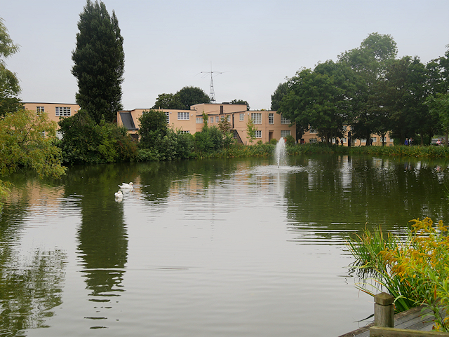 Bletchley Park Lake and Office Buildings (Blocks A and B)