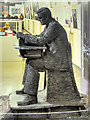 SP8633 : Alan Turing Sculpture, Bletchley Park Block B by David Dixon