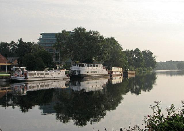 Moored Trent pleasure boats