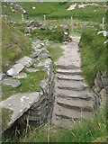NB1340 : Steps at the Iron Age House by M J Richardson