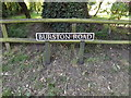 TM1485 : Burston Road sign by Adrian Cable