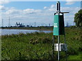 SE8413 : Navigation beacon along the River Trent by Mat Fascione