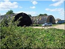 TF6303 : Nissen huts on the site of former RAF Downham Market by Richard Humphrey