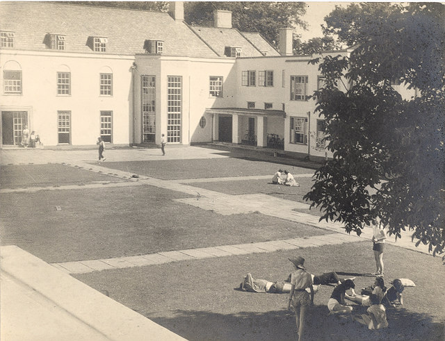 The Courtyard at Foxhole School in 1956