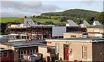 NT5035 : The old and new Langlee Primary Schools, Galashiels by Walter Baxter