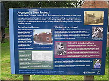 SO9568 : Avoncroft Museum Information Board Nailmaker's Cottage by Roy Hughes