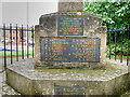 SP9066 : Dedication and Names, Little Irchester War Memorial by David Dixon