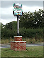 TL9172 : Ixworth Thorpe Village sign by Adrian Cable
