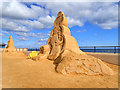 NZ6124 : Sand sculpture by Mick Garratt