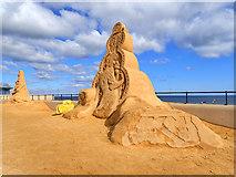 NZ6124 : Sand sculpture by Mick Garratt
