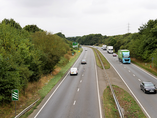 A45 (south) from Earls Barton Road