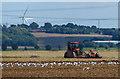 SE8215 : Tractor and farmland near Luddington by Mat Fascione