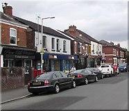 SJ8889 : Grenville Street shops, Edgeley, Stockport by Jaggery