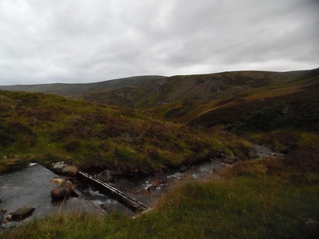 Remains of the footbridge over Allt a' Choire Sheiridh